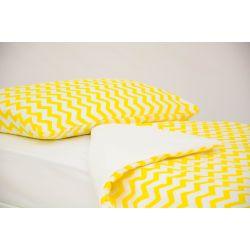 Детское постельное белье «Зигзаги желтые» (бязь)