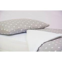 Детское постельное белье «Звезды, фон графит» (бязь)