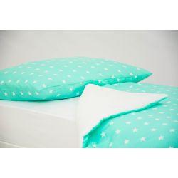 Детское постельное белье «Звезды, фон мятный» (бязь)