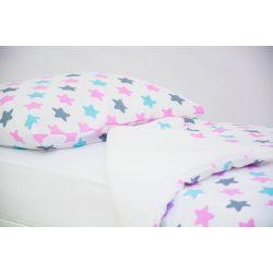 Детское постельное белье «Звезды графит, лаванда, бирюза» (бязь)