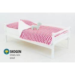 Деревянная кровать-тахта «Skogen белый» без аксессуаров