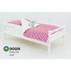 Деревянная кровать-тахта «Skogen белый» с бортом