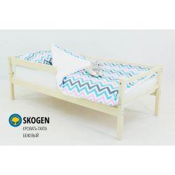 Деревянная кровать-тахта «Skogen бежевый» с бортиком