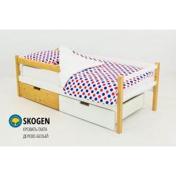 Деревянная кровать-тахта «Skogen белый-дерево»