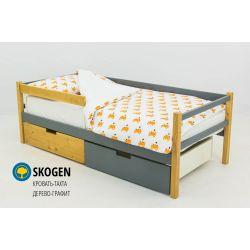Деревянная кровать-тахта «Skogen графит-дерево»