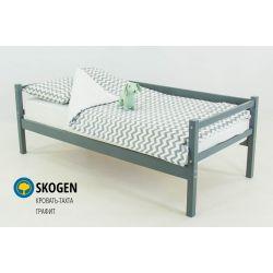 Деревянная кровать-тахта «Skogen графит» без аксессуаров