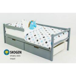 Деревянная кровать-тахта «Skogen графит»