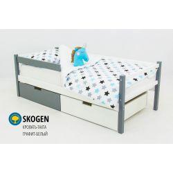 Деревянная кровать-тахта «Skogen графит-белый»