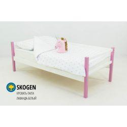 Деревянная кровать-тахта «Skogen лаванда-белый» без аксессуаров