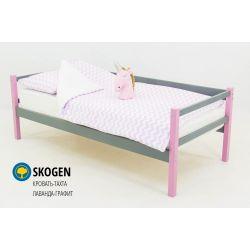 Деревянная кровать-тахта «Skogen лаванда-графит» без аксессуаров