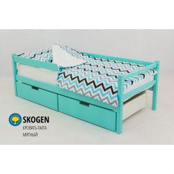Деревянная кровать-тахта «Skogen мятный»