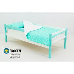 Деревянная кровать-тахта «Skogen мятно-белый» с бортиком