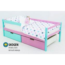 Деревянная кровать-тахта «Skogen мятный-лаванда»