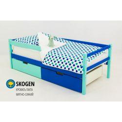 Деревянная кровать-тахта «Skogen мятно-синий»