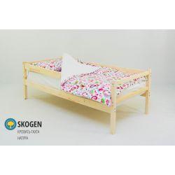 Деревянная кровать-тахта «Skogen натура» с бортиком