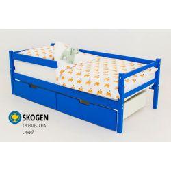 Деревянная кровать-тахта «Skogen синий»