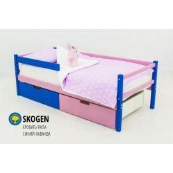 Деревянная кровать-тахта «Skogen синий-лаванда»