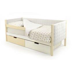 Мягкая кровать-тахта «Skogen бежево-белый»