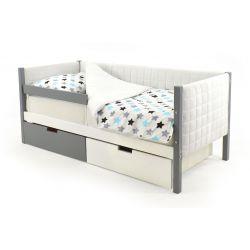 Мягкая кровать-тахта «Skogen графит-белый»