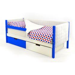 Мягкая кровать-тахта «Skogen сине-белый»