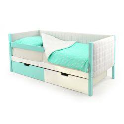 Мягкая кровать-тахта «Skogen мятно-белый»