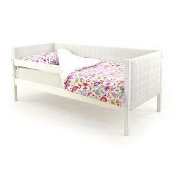 Мягкая кровать-тахта «Skogen белый» с бортиком