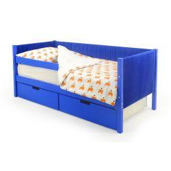 Мягкая кровать-тахта «Skogen синий»