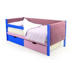 Мягкая кровать-тахта «Skogen синий-лаванда»