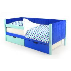 Мягкая кровать-тахта «Skogen мятно-синий»