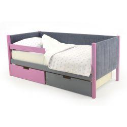 Мягкая кровать-тахта «Skogen графит-лаванда»