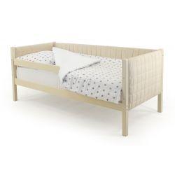 Мягкая кровать-тахта «Skogen бежевый» с бортиком