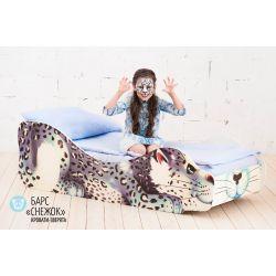 Детская кровать «Барс Снежок» с бортиками