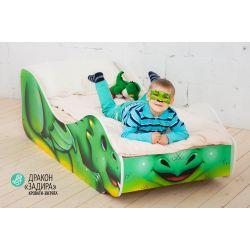 Детская кровать «Дракон Задира» с бортиками