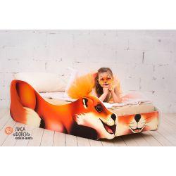 Детская кровать «Лиса Фокси» с бортиками