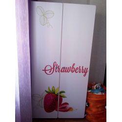 Детский шкаф двустворчатый «Клубничка»