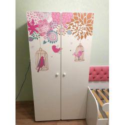 Детский шкаф двустворчатый «Райские птички»