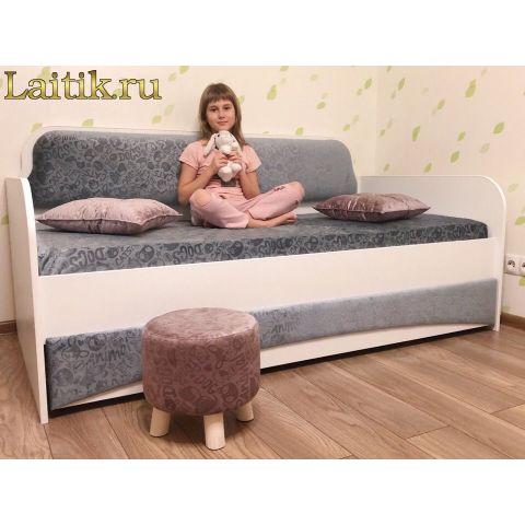 Размер - от 165x87x87 до 195x97x87 см, спальное место - от 160x80 до 190x90 см, нагрузка до 150 кг. Материал - ЛДСП, 16 мм
