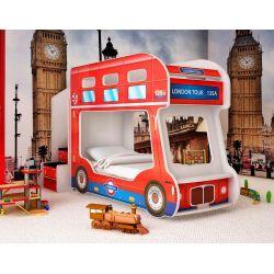 Детская двухъярусная кровать «Лондонский автобус»