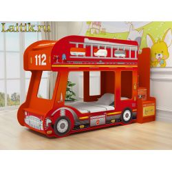 Детская двухъярусная кровать «Пожарная машина»