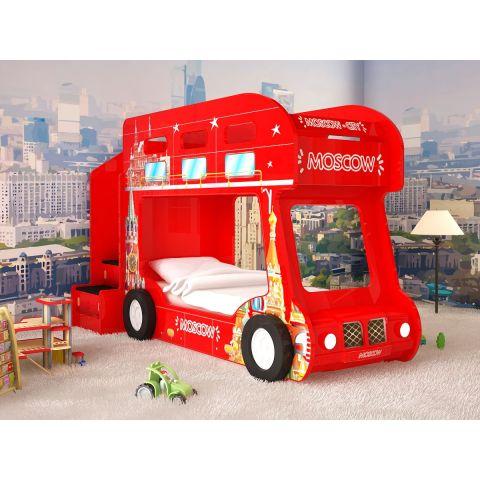 Размер - 225x94x145 см (ширина со ступенькой), спальное место - 170x80 см, допустимая нагрузка на спальное место - 100 кг.