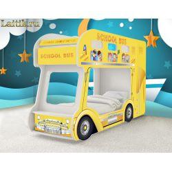 Детская двухъярусная кровать «Школьный автобус»
