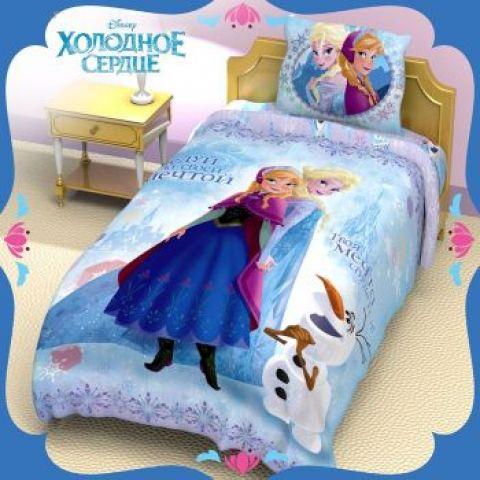 Комплект детского постельного белья «Холодное сердце» (поплин)