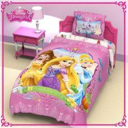 Комплект детского постельного белья «Принцессы» (поплин)