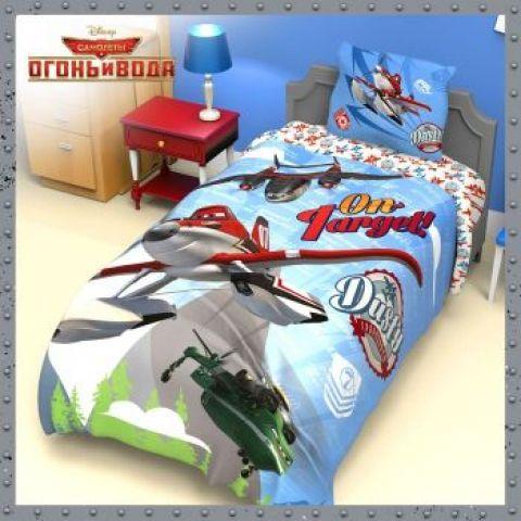 Комплект детского постельного белья «Самолеты» (поплин)