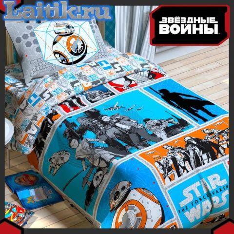 Комплект детского постельного белья «Звездные войны» (поплин)