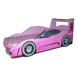 Кровать-машина «Ferrari» розовая