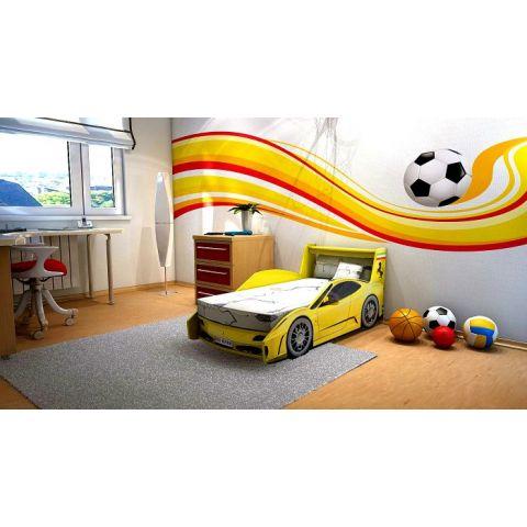 Кровать-машина «Ferrari» желтая
