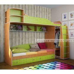 Детская двухъярусная кровать «Фанки Кидз 12 СВ»