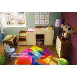 Кровать-чердак низкая «Фанки Кидз 14 ФМ»