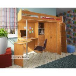 Кровать-чердак «Фанки Кидз 1 Лайт ФМ»  (с вертикальной лестницей)